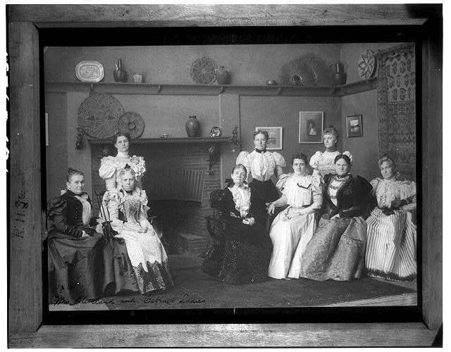 Mrs. Grover Cleveland and cabinet ladies
