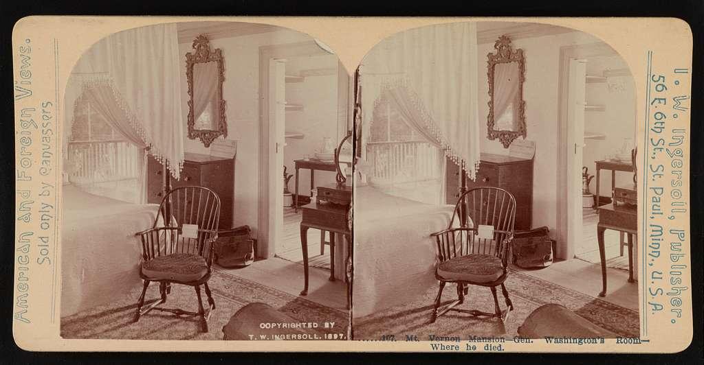 Mt. Vernon mansion-Gen. Washington's room-Where he died