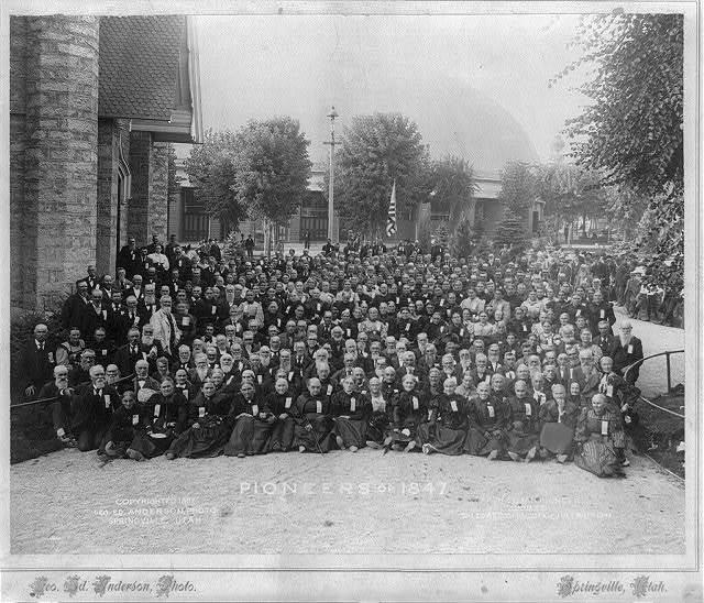 Pioneers of 1847 at the Utah Pioneer Jubilee, Salt Lake City, Utah, July 24th 1897