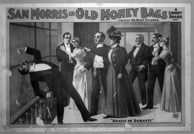 Sam Morris in Old money bags a comedy drama.