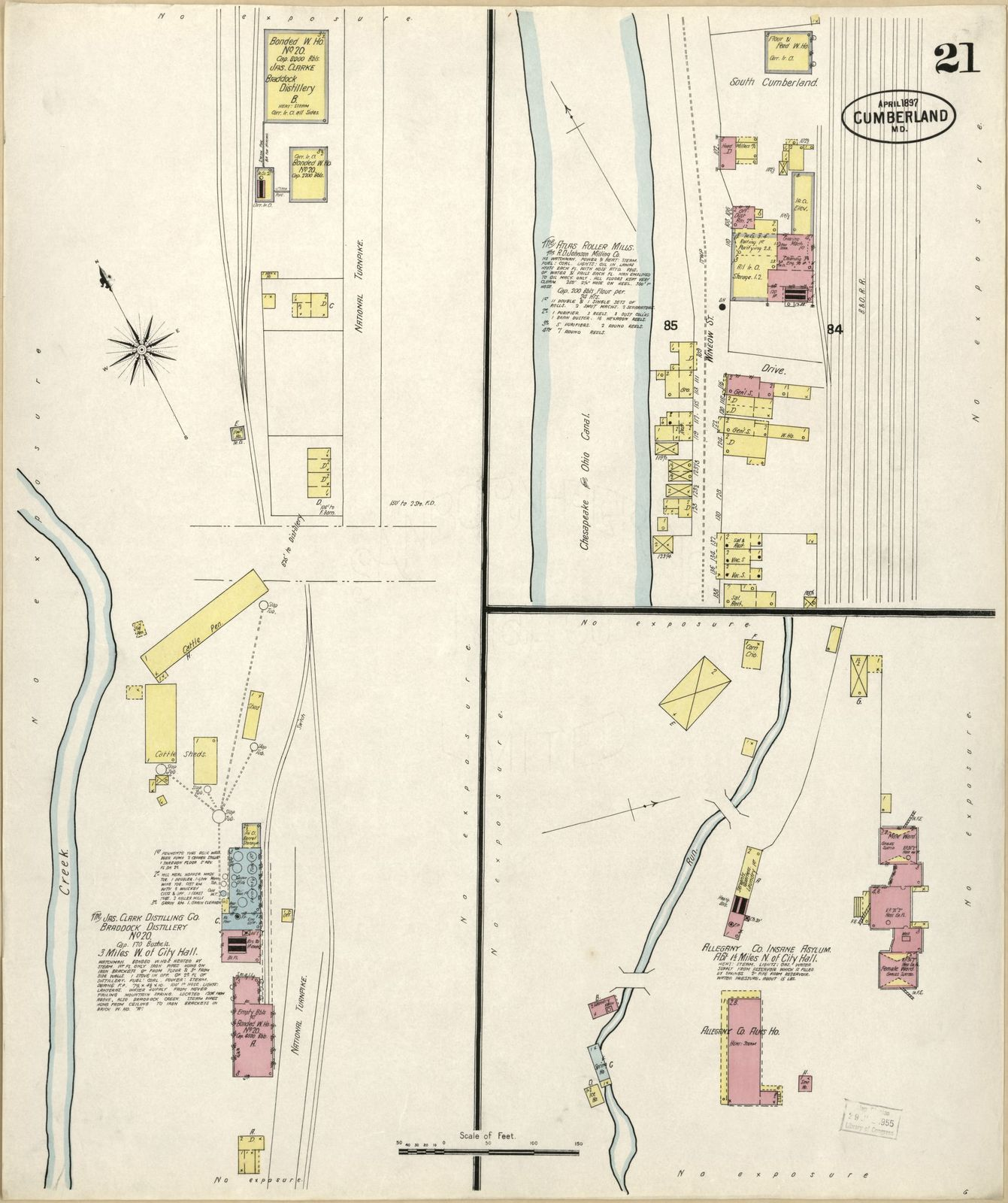 Sanborn Fire Map.Sanborn Fire Insurance Map From Cumberland Allegany County