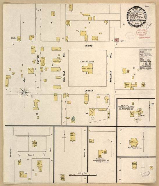 Sanborn Fire Insurance Map from Mount Vernon, Montgomery County, Georgia.