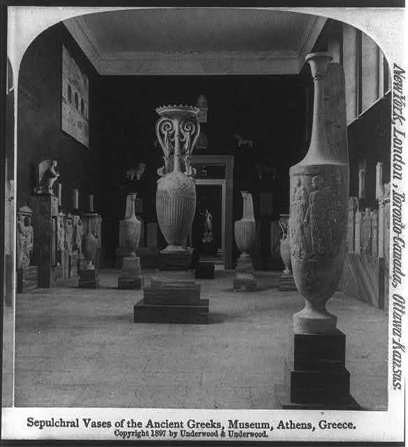 Sepulchral vases of the ancient greeks, museum, Athens