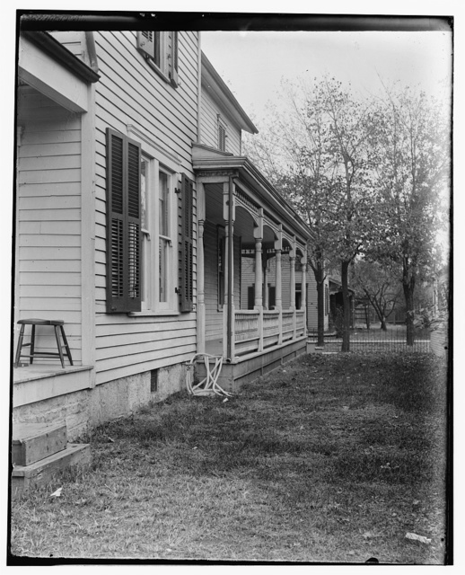 [Side view of 7 Hawthorn Street, the Wright family home, taken from rear]