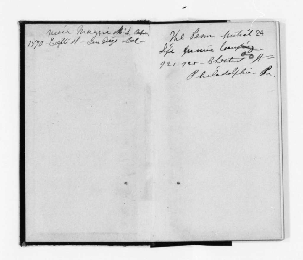 Susan B. Anthony Papers: Daybook and Diaries, 1856-1906; Diaries; 1897