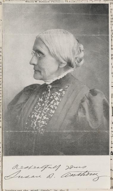 Susan B. Anthony, photomechanical print
