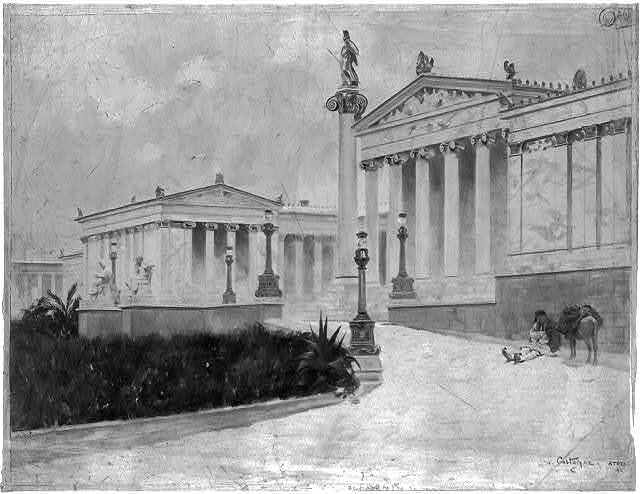 The academy of Athens / A. Castaigne.