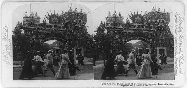 The Armorial Jubilee Arch at Portsmouth, England, June 26, 1897