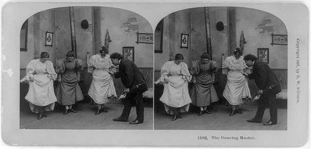 The dancing master / photographed and published by B.W. Kilburn, Littleton, N.H.