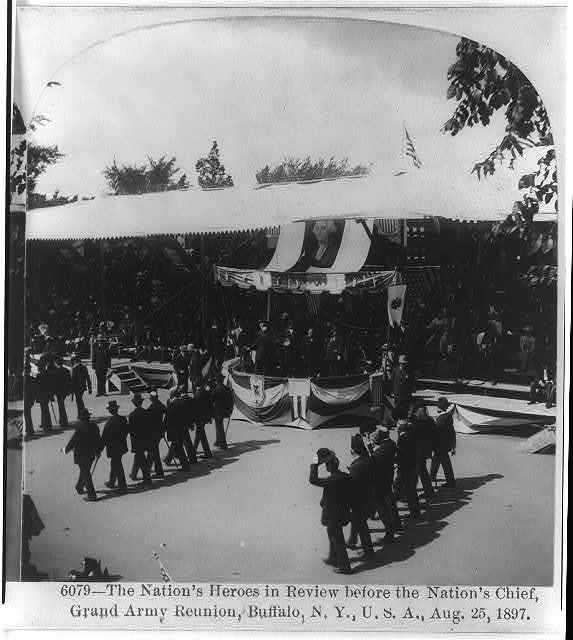 The Nation's Heroes in review before the nation's Chief Grand Army Reunion, Buffalo, N.Y., U.S.A., Aug. 25, 1897