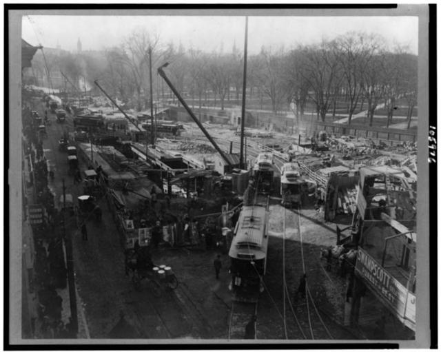 [Trolley cars near Boston Commons, Boston, Massachusetts]