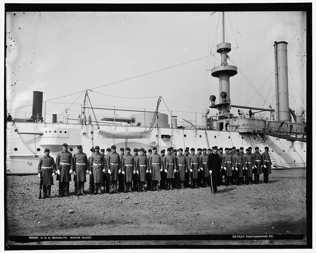 U.S.S. Brooklyn, Marine guard