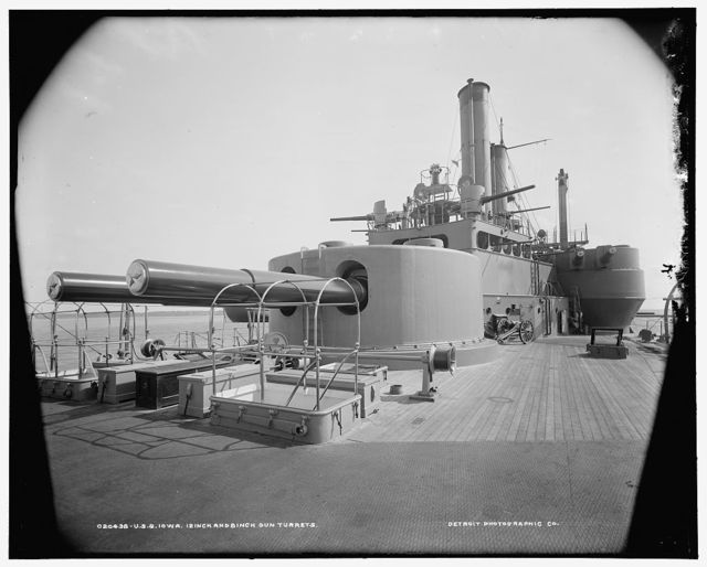 U.S.S. Iowa, 12 inch and 8 inch gun turrets