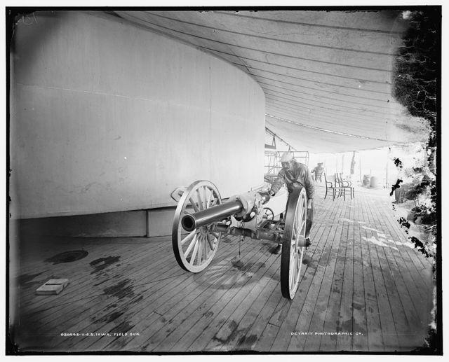 U.S.S. Iowa, field gun