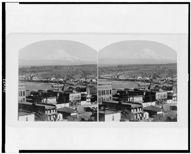 [View overlooking Tacoma with Mt. Rainier in background]