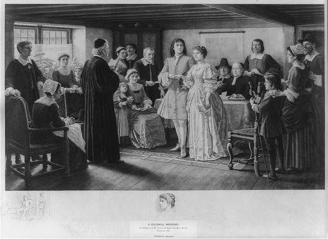 A colonial wedding, the marriage of Dr. Francis Le Baron and Mary Wilder, Plymouth, 1695