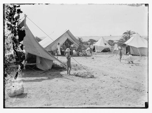 American colony group camping at Askalon