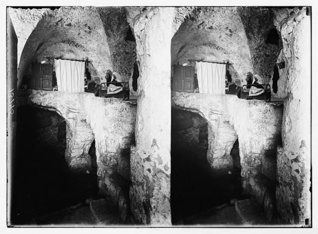 Arab home in rock cavern