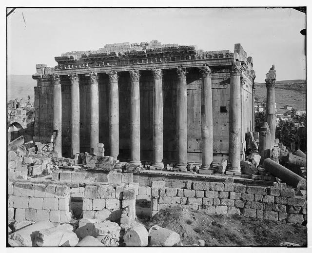 Baalbek (Heliopolis), etc. Columns of Temple of Bacchus