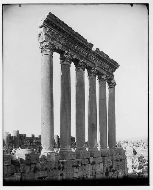 Baalbek (Heliopolis), etc. Columns of Temple of the Sun