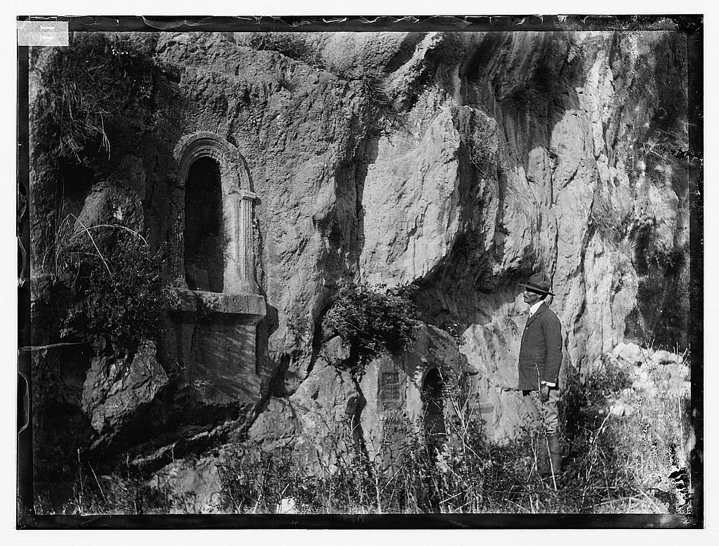 [Banias (Caesarea Philippi), with niches for statues of deities]