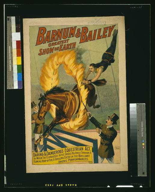 Barnum & Bailey greatest show on earth Daring and dangerous equestrian act ...