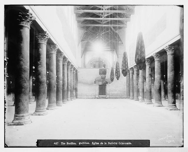 Bethlehem (Beit-Lahm) and surroundings. Basilica in Church of the Nativity / American Colony, Jerusalem.
