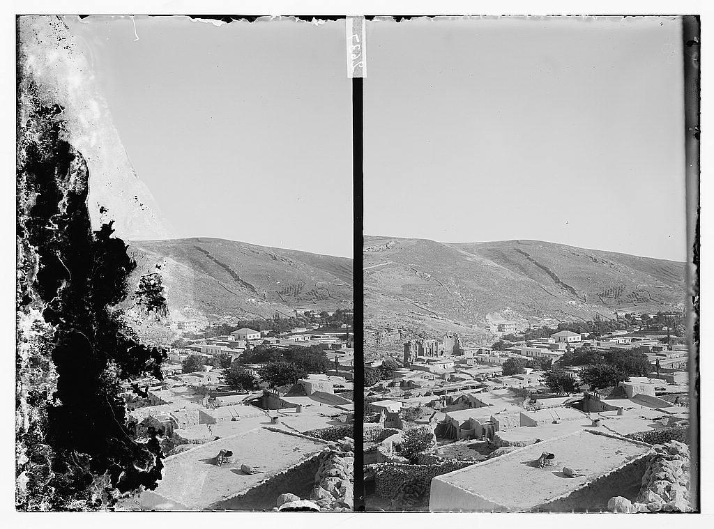 [Bird's-eye view of Amman, looking towards the basilica]
