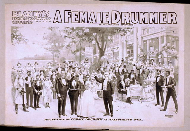 Blaney's extravaganza success, A female drummer
