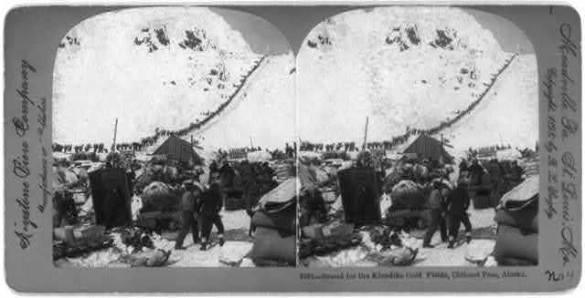 Bound for the Klondike Gold Fields, Chilcoot Pass, Alaska