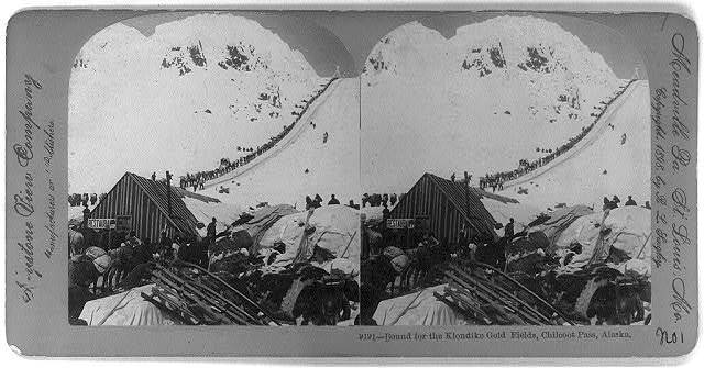 Bound for the Klondike Gold Fields, Chilcoot Pass, Alaska
