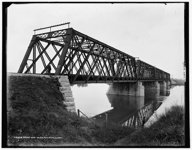 Bridge near Nelson, Rock River, Ill.