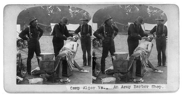 Camp Alger, Va., an Army barber shop