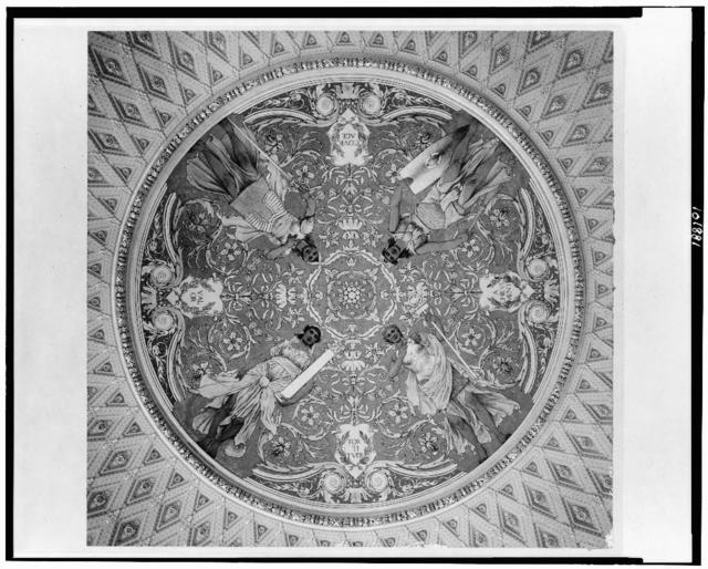 [Ceiling disc mural by George Willoughby Maynard, in the Southwest Pavillion, Jefferson Building, Library of Congress]