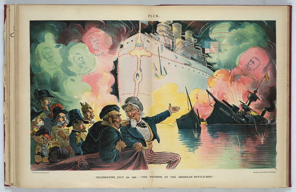 "Celebrating July 4th, 1898 - ""the triumph of the American battle-ship"" / Keppler."