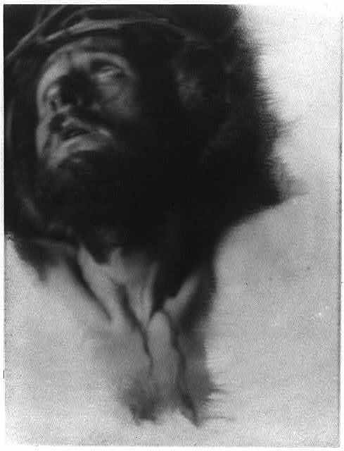 [Christ with crown of thorns, looking up to left]