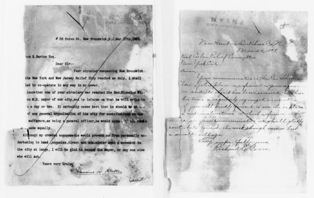 Clara Barton Papers: Red Cross File, 1863-1957; American National Red Cross, 1878-1957; Relief operations; Spanish-American War; Solicitations; Churches, newspapers, and local organizations; 1898, Jan.-Mar.