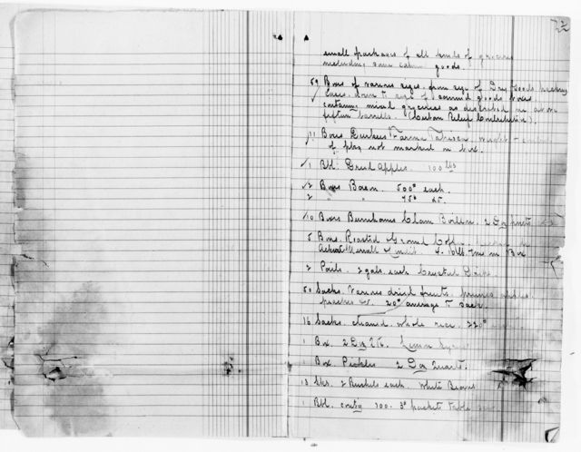 Clara Barton Papers: Red Cross File, 1863-1957; American National Red Cross, 1878-1957; Relief operations; Spanish-American War; Field operations; Gibrara, Cuba, seizure of Red Cross supplies, 1898-1900, undated
