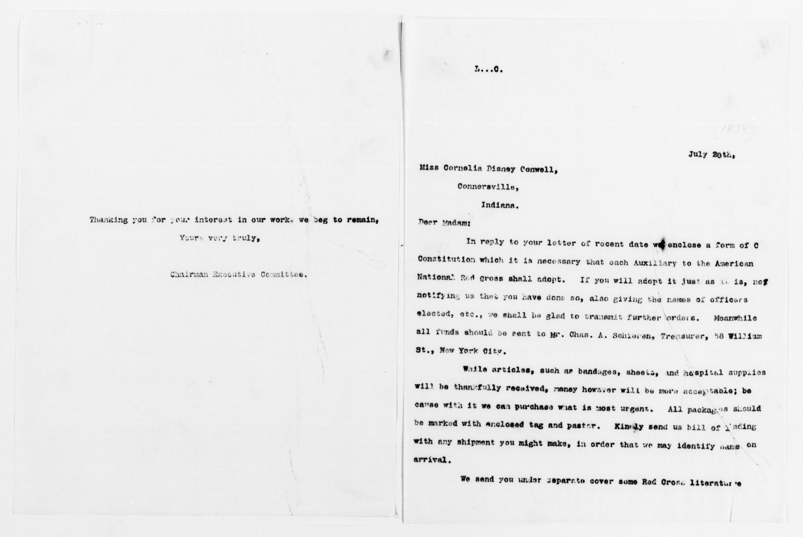 Clara Barton Papers Red Cross File 1863 1957 American National