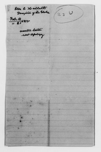 Clara Barton Papers: Red Cross File, 1863-1957; American National Red Cross, 1878-1957; Relief operations; Spanish-American War; Contributions and donations; Materials and supplies; 1898, Jan.-Mar.