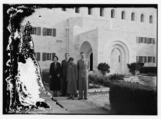 Crown Prince in front of High Comm. [Commissioner's] residence, Jerusalem