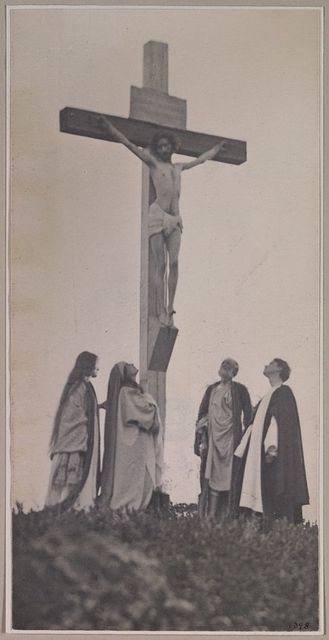 [Crucifixion, frontal, with Mary, Mary Magdalene, Joseph and St. John(?)]
