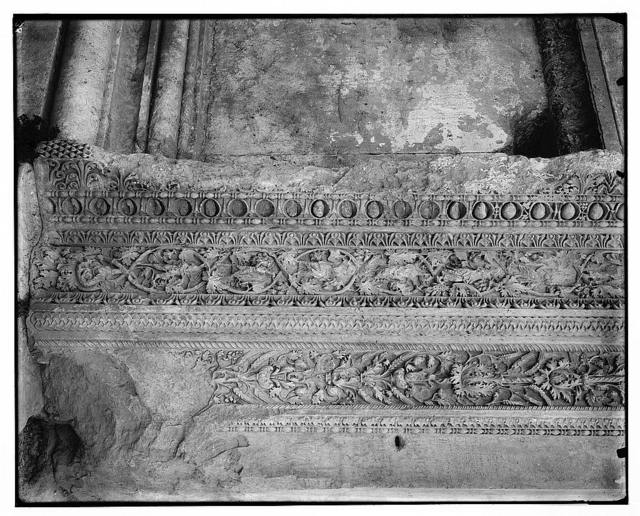 [Doorpost carvings in the Temple of Bacchus, Baalbek]