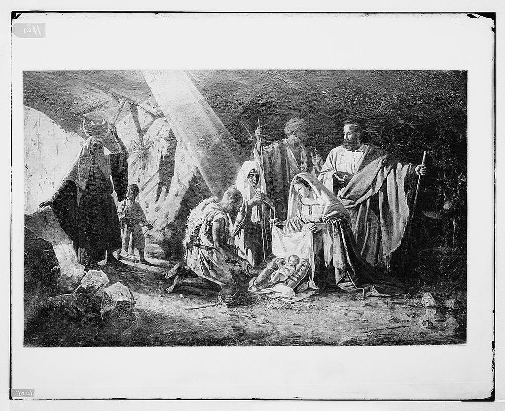 Famous religious paintings  The Nativity, by G  Bagioli, in