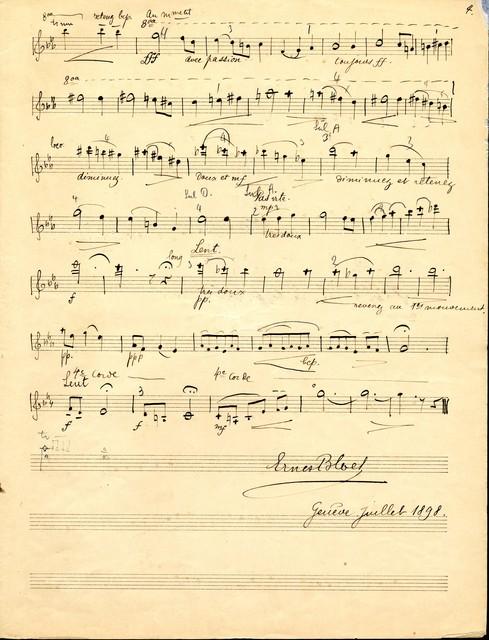 Fantaisie-lied pour violon et piano