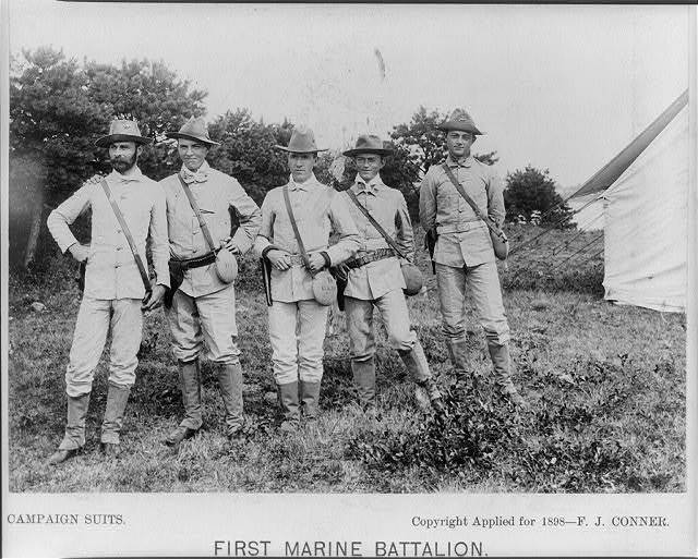 First Marine battalion, campaign suits