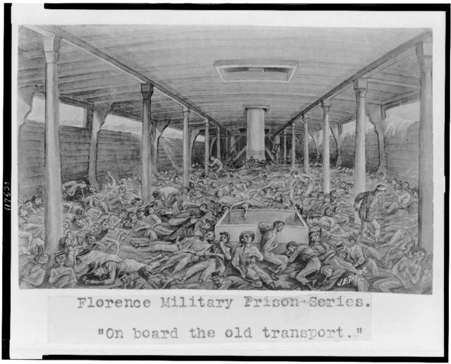 "Florence military prison series--""On board the old transport"" / J.E. Taylor."