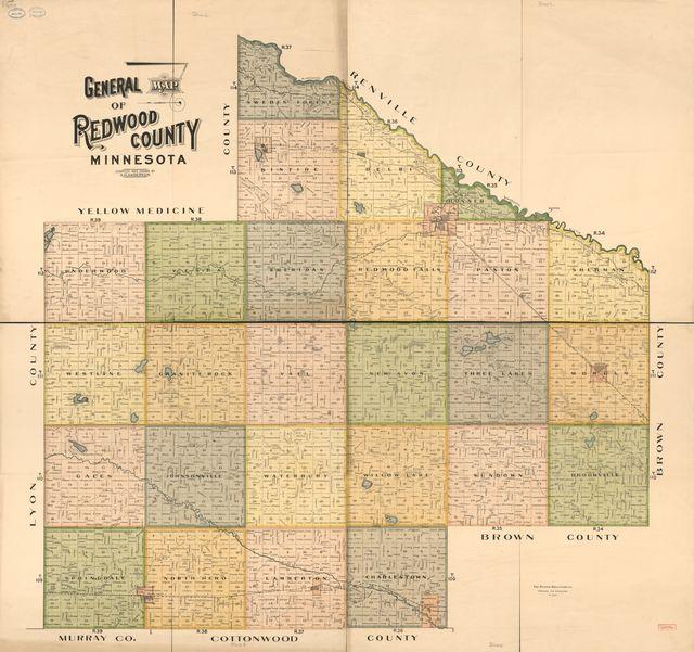 General map of Redwood County, Minnesota /