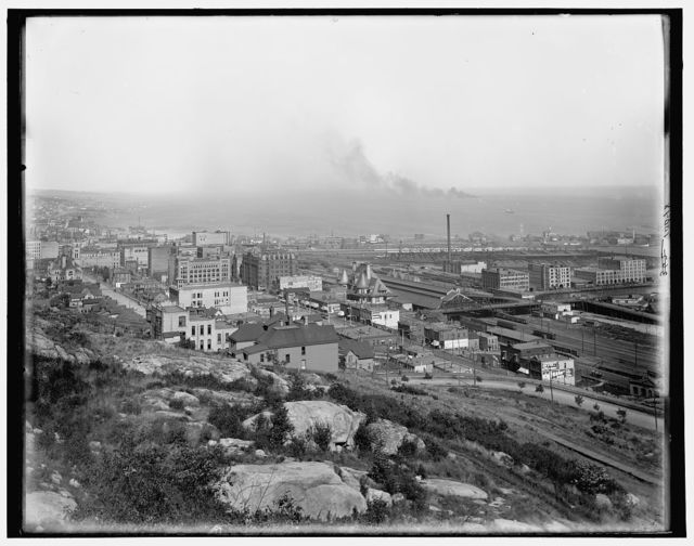 [General view from bluffs, Duluth, Minn.]