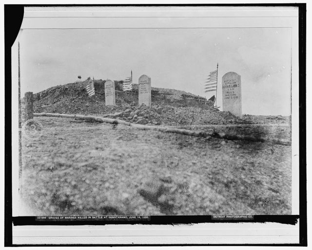 Graves of Marines killed in battle at Guantanamo, June 14, 1898
